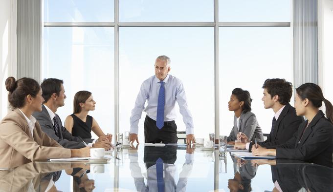Executive board having a meeting